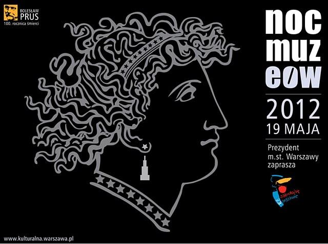 Noc muzeów w Warszawie 2012 - plakat
